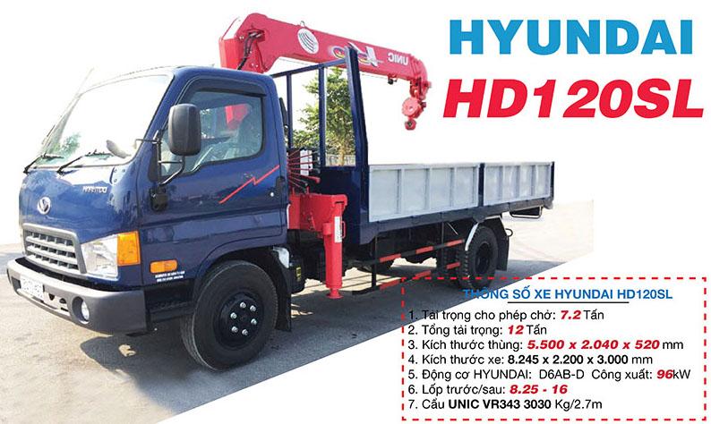 xe tải cẩu Hyundai HD120SL gắn cẩu