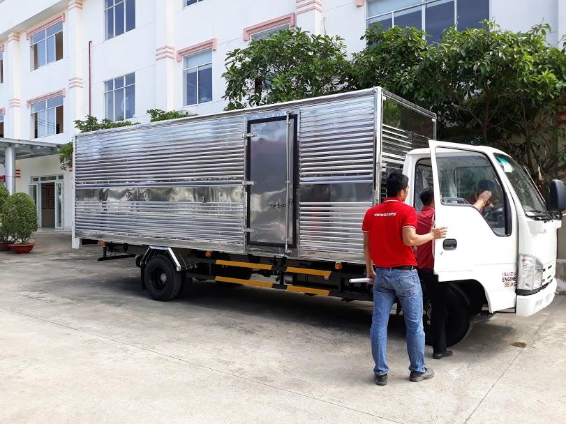 xe tải isuzu vm vĩnh phát 1t9 thùng kín dài 6m2