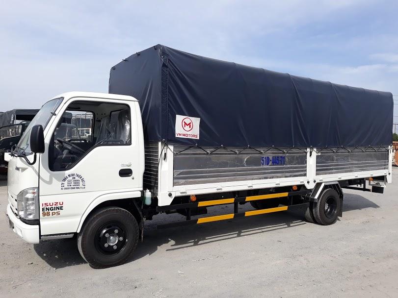 xe tai 1t9 thùng dai 6m2 isuzu vào thành phố